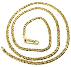 SOLID 18K GOLD GOURMETTE CUBAN CURB 18K YELLOW GOLD CHAIN OVAL WAVE 2.5m... - $1,735.00