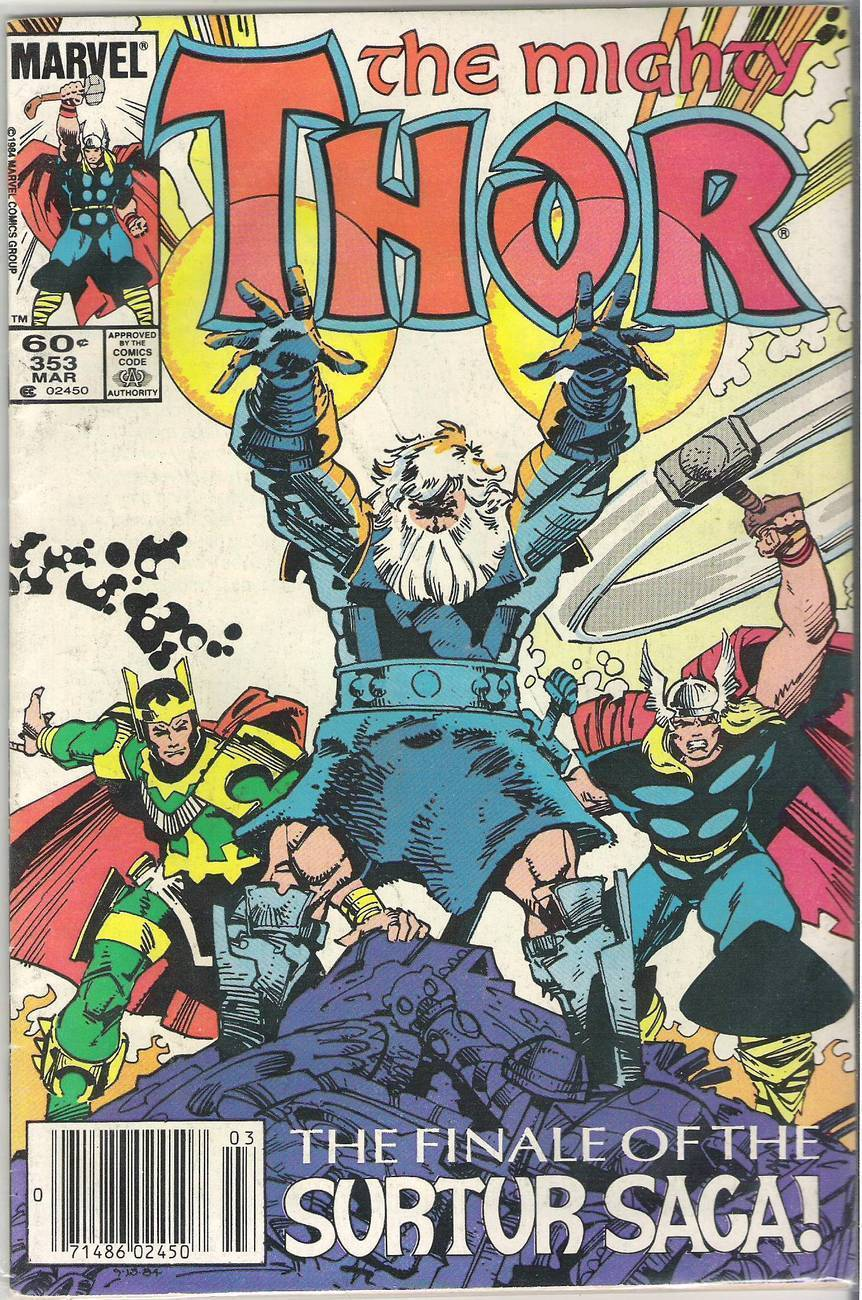 The Mighty Thor #352, 353, 354, 357, 358 Marvel Comic Books