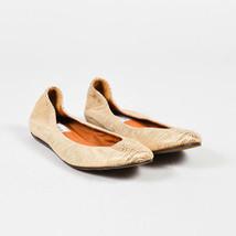 Lanvin Gold Embossed Snakeskin Ballet Flats SZ 37 - $130.00