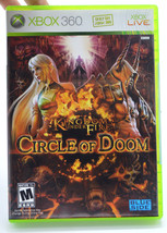 Kingdom Under Fire: Circle of Doom Microsoft Xbox 360 2008 Game Complete... - $14.73