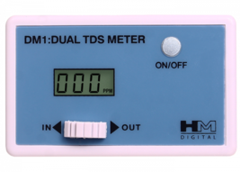 HM Digital DM-1 In-Line Dual TDS Monitor 0-9990 ppm Range 2 Readout Accu... - $45.26 CAD