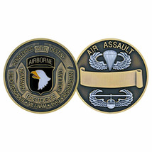 ARMY 101ST AIRBORNE AIR ASSAULT SCREAMING EAGLES CHALLENGE COIN - $17.09