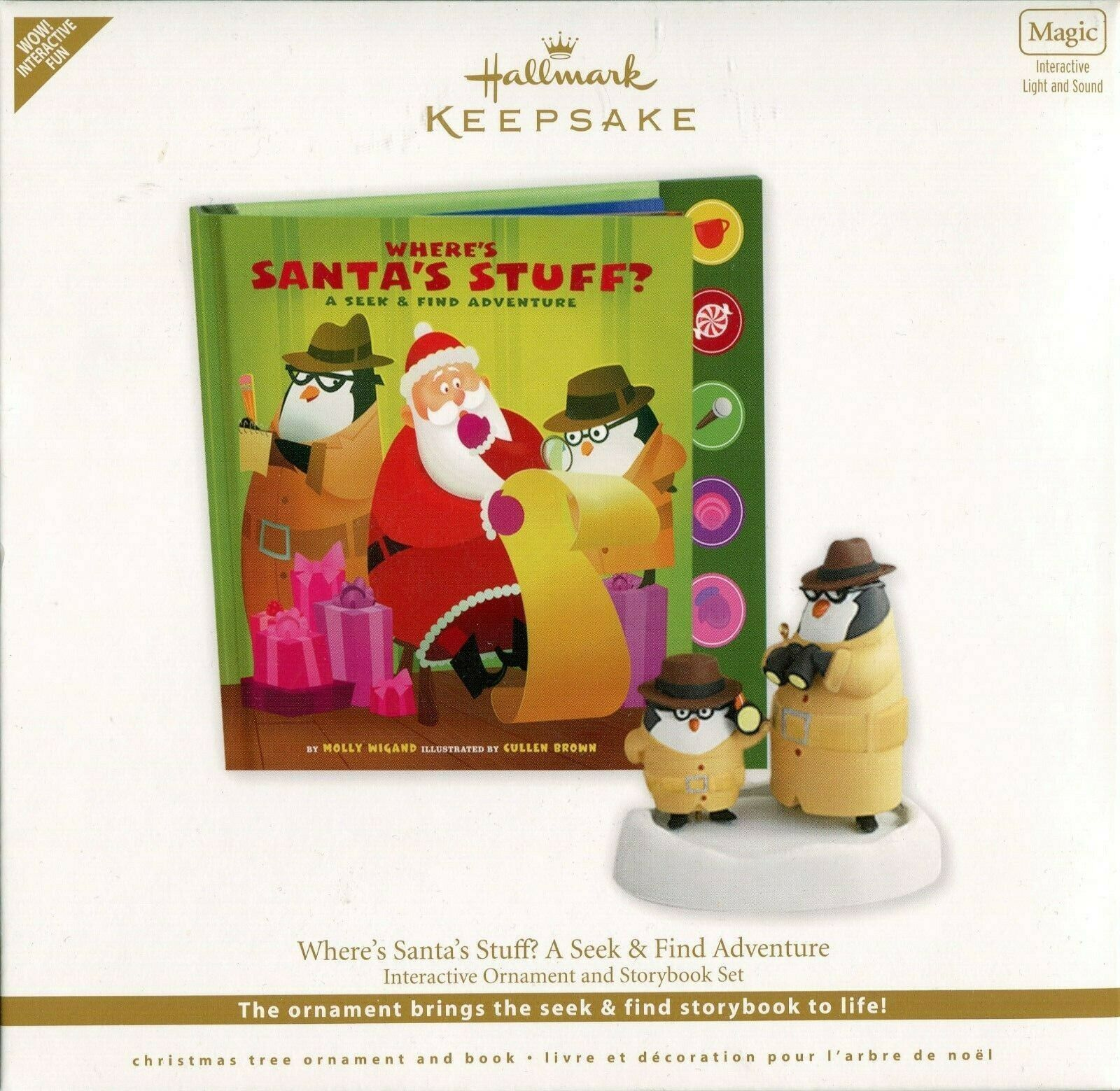 Primary image for 2011 Hallmark Keepsake Ornament - Where's Santa's Stuff Interactive Ornament