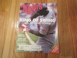 Minnesota Twins Davis 1991 Scorecard Program Souvenir Magazine MLB Baseball - $6.99