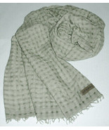 Sferra Decorative Green Throw Wool Blend Crinkled Lightweight Italy 58x7... - $184.90
