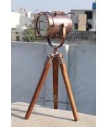 Nautical Copper Finish Floor Lamp Marine Tripod Searchlight Decor E 27 L... - $85.31
