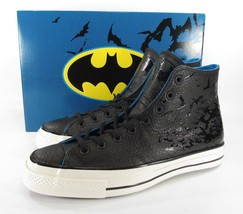 Converse DC Comics Batman 70's Hi Chuck Taylor BLACK Embossed Leather RA... - $87.50