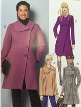 Butterick Sewing Pattern 6292 Misses/Ladies Coat Size 8-16 New - $16.76