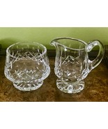 LISMORE Footed Creamer Pitcher Open Sugar Bowl Set Waterford Cut Crystal  - $35.63