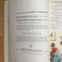 1963 A World to Discover textbook. By Matilda Bailey and Ullin Leavell image 6