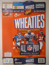Empty WHEATIES Box 1996 12oz ALL PRO RUNNING BACKS Thomas Sanders Allen ... - $5.58