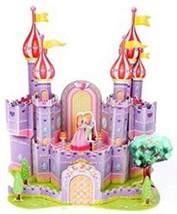 PANDA SUPERSTORE Stereoscopic 3D Purple Castle Paper Puzzle Children's Education
