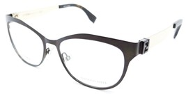 Fendi Rx Eyeglasses Frames FF 0114 H2O 53-16-140 Matte Brown Gold Made i... - $120.54