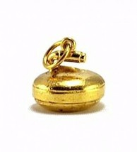 NICE New 3D Solid Curling 24k gold plated over Sterling silver 925 charm... - $25.97
