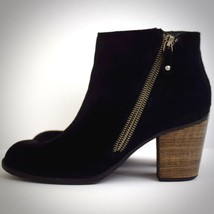 Skechers Womens Boots 10 Ankle Suede Black Heels Shoes Booties Zipper Sh... - £29.68 GBP