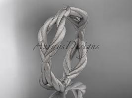 platinum  rope matte finish wedding band RP898G - $685.00