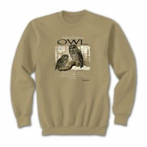 Owl Sweatshirt S M L XL Advice From Nature Jerzees Unisex New NWT - $25.25