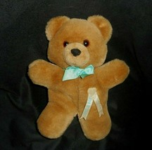 "10"" Vintage Dakin 1985 Brown Teddy Bear It's A Boy Bow Stuffed Animal Plush Toy - $42.08"
