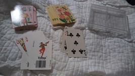 2 decks of Trump cards with Hallmark sparkle holder Flowers insects pink... - $8.59