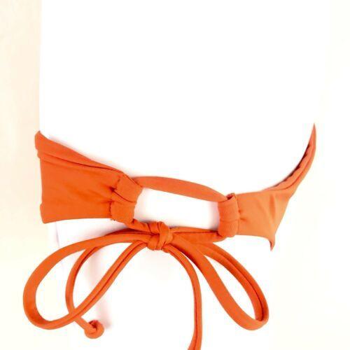 L Space Ella Side Tie Back Ruched Bikini Bottoms Full Cut Neon XS Extra Small