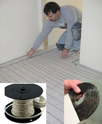 SunTouch Radiant Floor Heating WarmWire Kits 180 sq 240 Volt