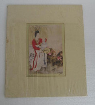 Vintage Hung- Chu Lee Signed Art Original Watercolor on Silk Chinese Pai... - $74.99