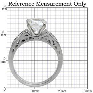 Stainless Steel Round Cut CZ Solitaire Engagement Ring - SIZE 6, 7 image 2
