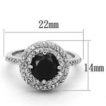 Silver Tone 4 Prong Black Cubic Zirconia Ring  - SIZE 8, 9 (LAST ONES) image 3