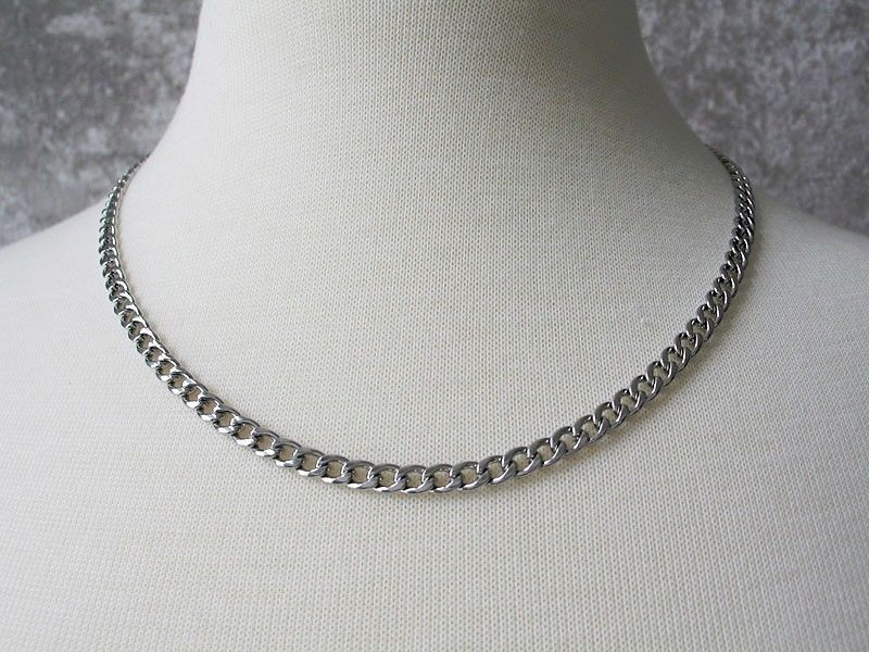 Never Fades Stainless Steel 4mm 20 inch Curb Chain for Men or Women