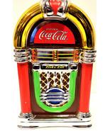 Coca-Cola Rock'n Roll Jukebox Cookie Jar 2002 Gibson CIB - $33.58