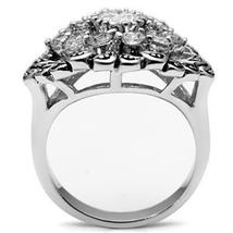 Antique Finish Cluster Flower Cubic Zirconia Ring -  SIZE 5 to 9 image 4