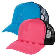 Psycho Bunny Men's Premium Cotton Snapback Mesh Baseball Cap Hat