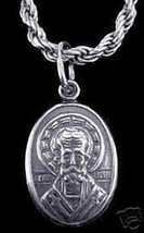 LOOK Saint of children St. Nicholas Silver charm Christmas - $17.42