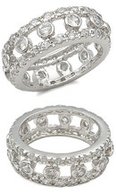 STERLING SILVER Bezel Setting Clear Cubic Zirconia Ring - SIZE 6 (LAST ONE) image 2