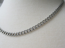 Never Fades Stainless Steel 4mm 20 inch Curb Chain for Men or Women image 2