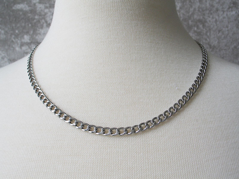 Never Fades Stainless Steel 4mm 20 inch Curb Chain for Men or Women image 3