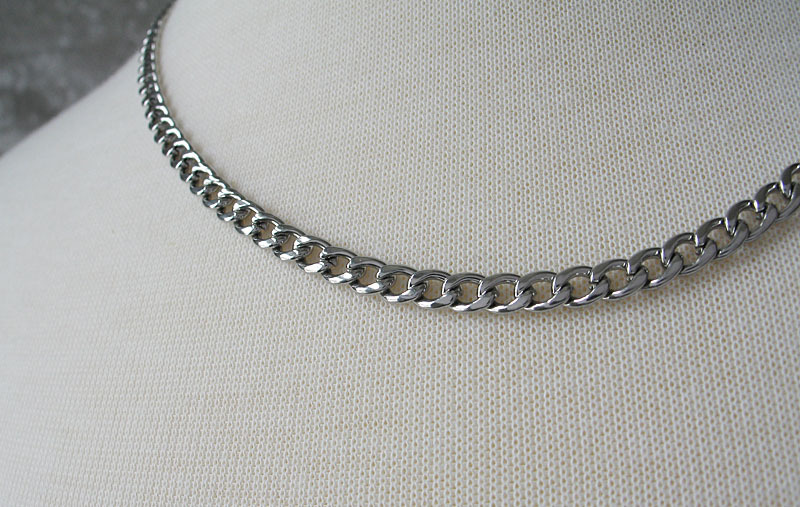 Never Fades Stainless Steel 4mm 20 inch Curb Chain for Men or Women image 4
