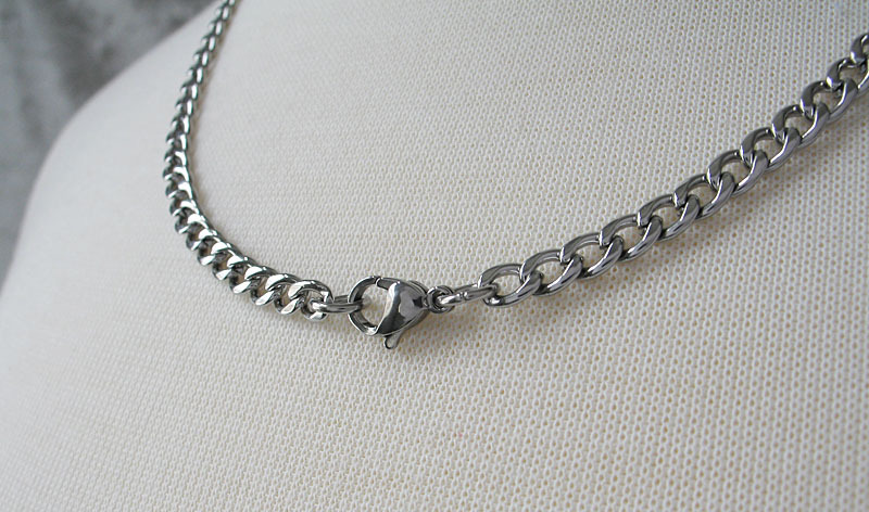 Never Fades Stainless Steel 4mm 20 inch Curb Chain for Men or Women image 5