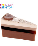 CHOCOLATE HEAVEN SOAP CAKE SLICE BOMB COSMETICS YLANG YLANG HANDMADE NEW - $6.03