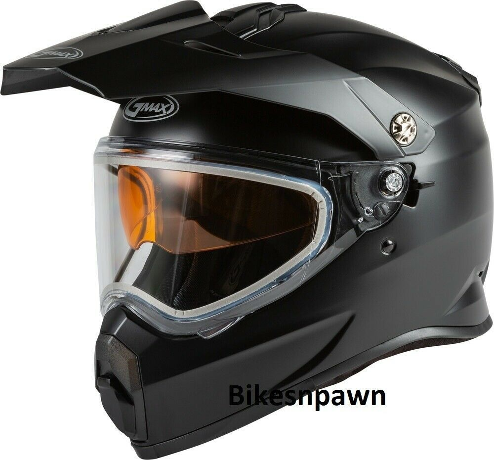 New Adult XS Gmax AT-21S Matte Black Adventure Cold/ Snow Helmet DOT/ECE