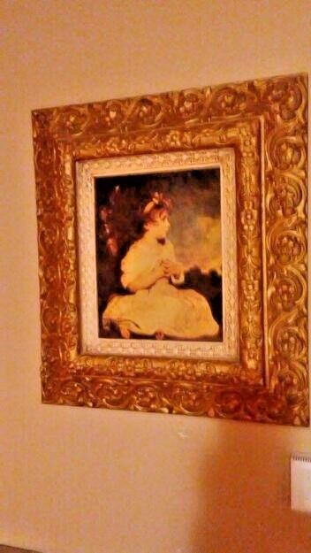 "Primary image for VINTAGE MUSEUM REPLICA"" Age of Innocence"" Sir Joshua Reynolds 16"" X 18"" FRAMED"