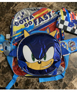 Sonic the hedgehog backpack bonus 5 piece set New With Tags - $29.69