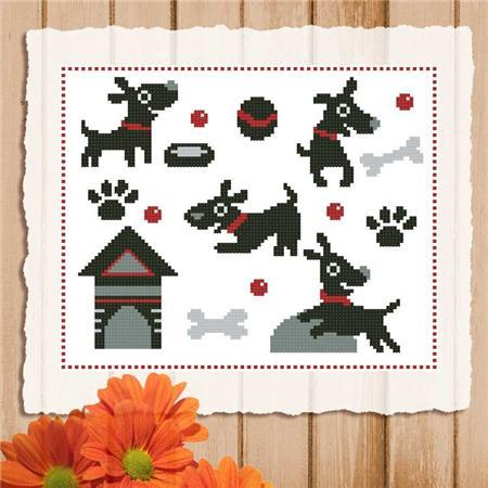 Primary image for Happy Dog Mini Sampler cross stitch chart Pinoy Stitch