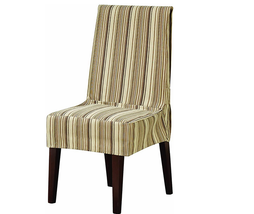SURE FIT Harbor Stripe Dining Chair Slipcover Brown Multi Stripe New - $19.99