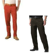 Mens Casual Pants Dockers Red Brown Straight Fit D2 Khaki-size 30 & 32 - $24.00