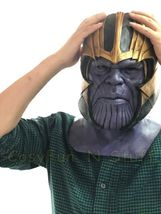 New Endgame Thanos Mask Infinity War Avengers EndGame Costume Mask Handmade image 7