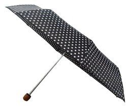 Conch Umbrella Women's Umbrella, Black and White Polka Dots - $18.42