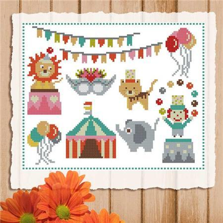 Primary image for Circus Mini Sampler cross stitch chart Pinoy Stitch