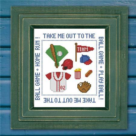 Primary image for Baseball Mini Sampler cross stitch chart Pinoy Stitch