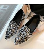 Fashion Women Ballet Shoes Leisure Spring Autumn Ballerina Bling Flash S... - $53.88+